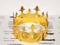 Корона из золотой пленки